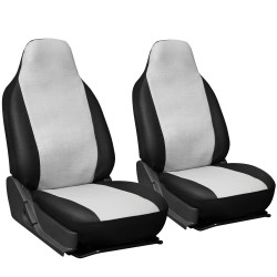 White & Black Superior Synthetic Faux Leather (2pc Set)