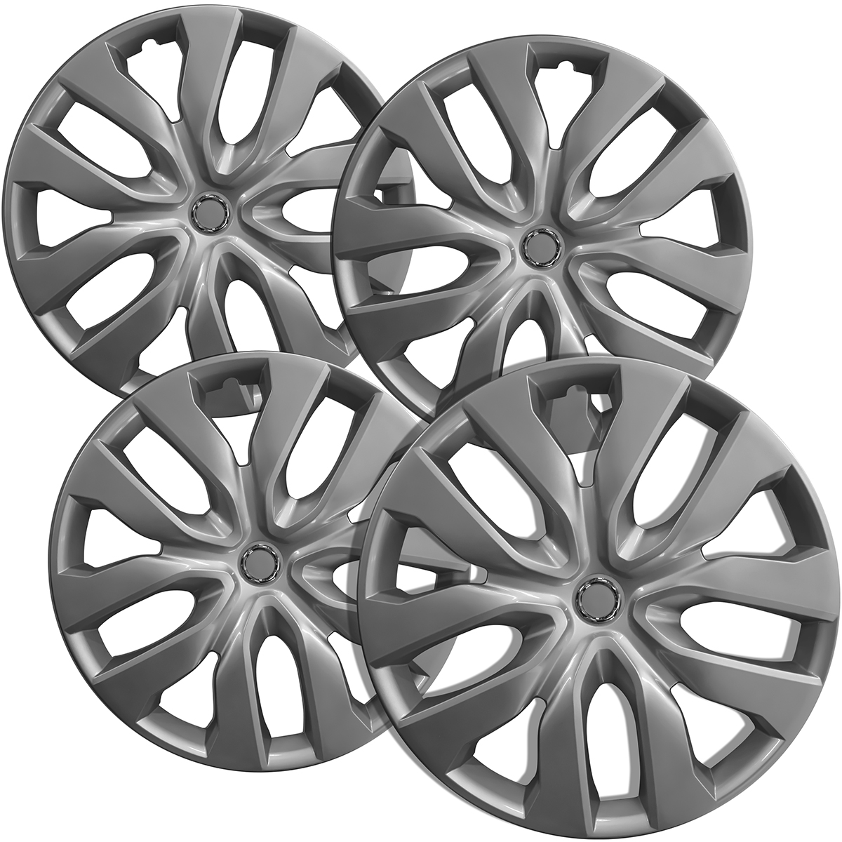 Hubcaps Fits 14 17 Nissan Rogue 17 Inch Silver